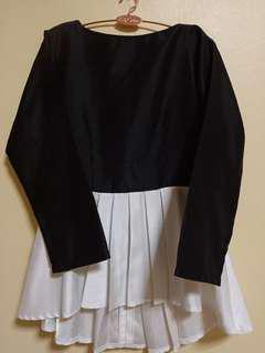 👚White&Black Top Blouse n Skirt 🖤