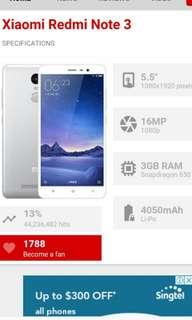 Redmi Note 3 Pro 32gb/3gb Ram