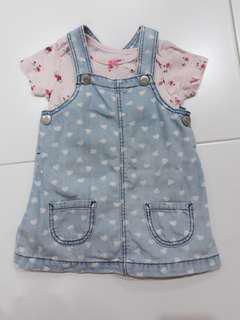 Baby Top denim dress