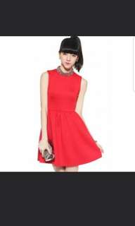 Love bonito denyze dress on crimson red M