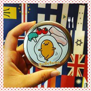 🛸🤺日本🇯🇵 正版 三麗鷗 🎀 蛋黃哥 鐵盒 便條紙📄