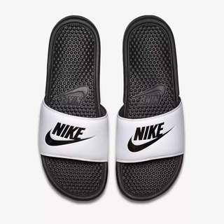 NIKE BENASSI JDI 白黑 熊貓 海灘拖鞋 男女鞋 343880-100