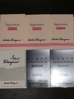 Salvatore Ferragamo 試管裝香水 六支 1.5ml