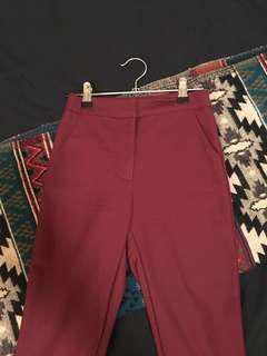 Burgundy formal trousers