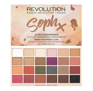 makeup revolution x soph eyeshadow palette