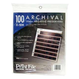🚚 【菲林空間】Print File 35mm 無酸性底片三孔保存頁 35-7BXW / 1包100頁