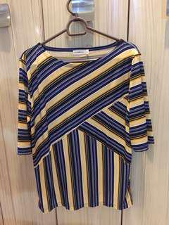 Paperdolls striped 3/4 blouse