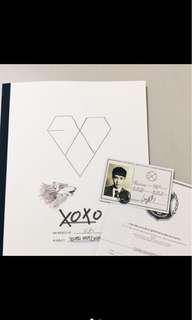 🚚 降價⬇️EXO XOXO 第一張正規專輯 Lay小卡 Kiss版 韓版專輯