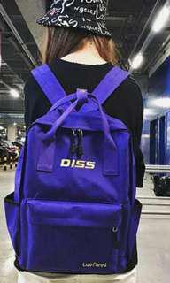 女孩韓版原宿ulzzang學生書包,帆布雙肩包,潮爆ins超火背囊包包Size: 28 Lx 12W x39Hcms