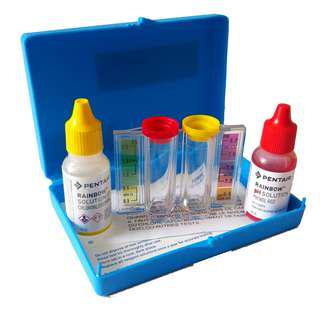 Test Kit Chlorine & pH merk Pentair (Rainbow)