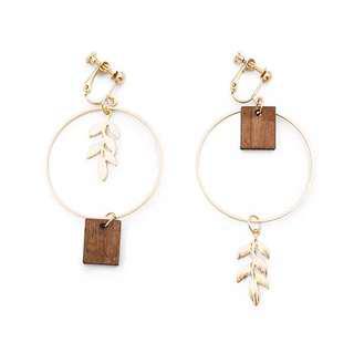 🚚 浪漫森林夾式耳環