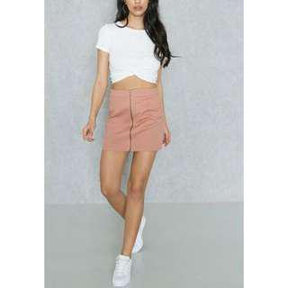 Forever 21 pink denim skirt
