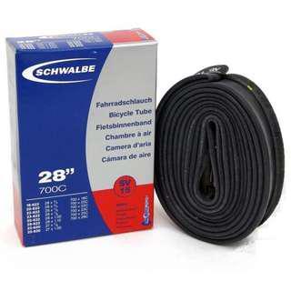 "Schwalbe 28"" 700c 40mm Road tube presta valve (2 tubes)"