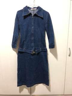 牛仔連身裙 size S denim dress #gogovan50