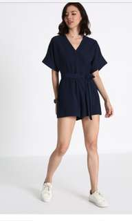 🚚 Love Bonito Geordie Sash Playsuit in Navy L