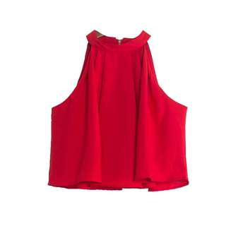 RS red halter neck top