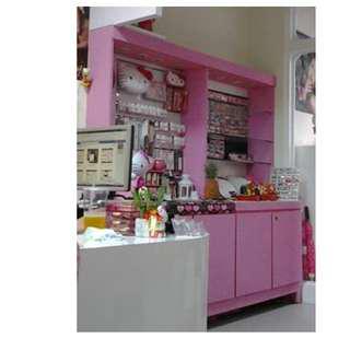 新品三萬  美甲 多用途 產品展示櫃 粉紅色 超市貨架 飾品展示櫃 飾品櫃 收納櫃 置物櫃 展示架 擺攤架 夜市架 凹槽