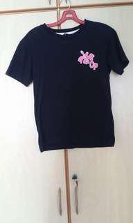black sparkly pink glitter shirt