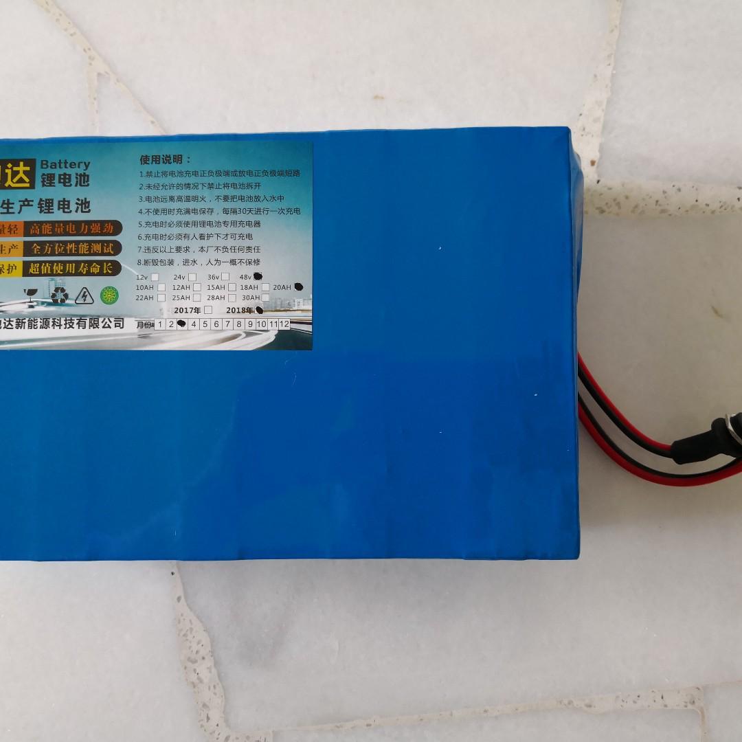 24v 36v 48v 52v 60v external lithium battery pack for