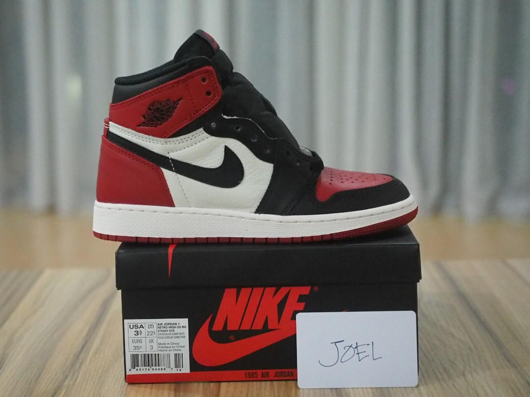 e56d0535d58d5c 《SOLD》3.5Y Air Jordan 1 Bred Toe