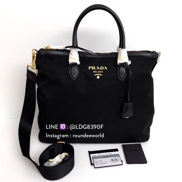bdd17606a6f4 ... usa sale prada tessuto nylon convertible handbag 1bc060 black luxury  bags wallets handbags on carousell d1802