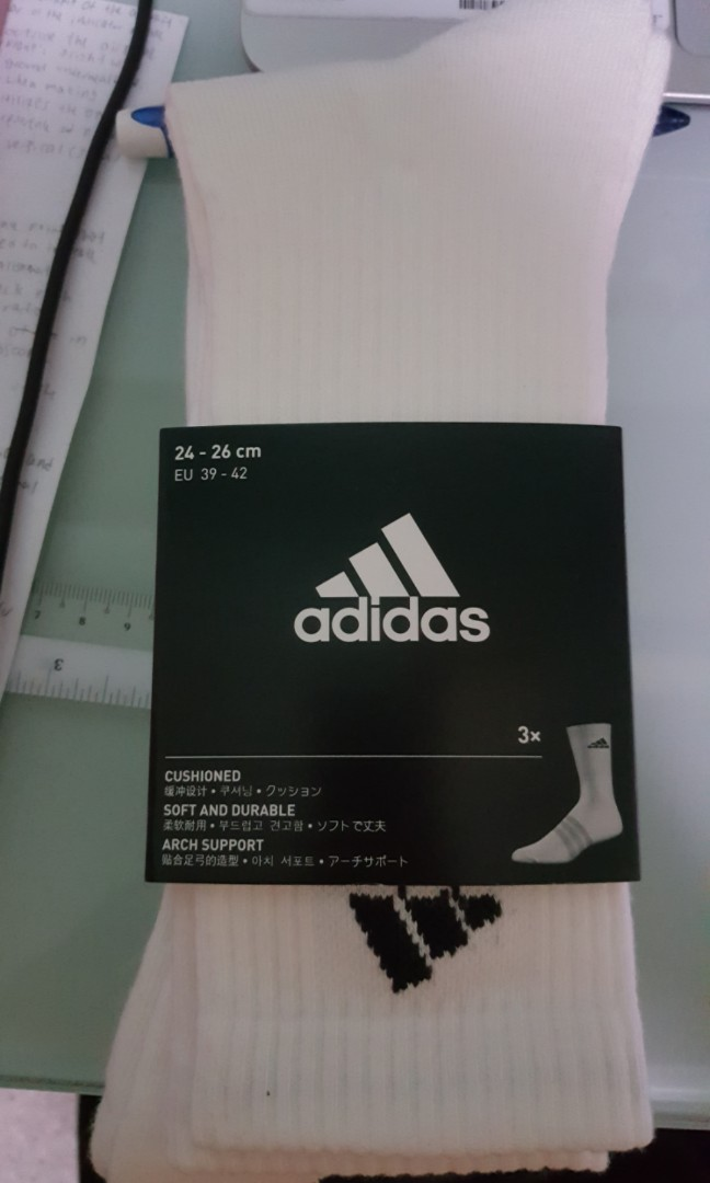 8e3d619d Adidas 3 stripes performance crew socks, Men's Fashion, Accessories ...