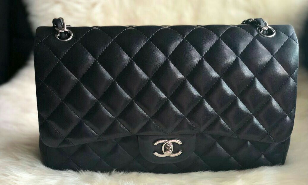 4edf90c28ce81b Authentic Chanel classic flap bag jumbo size, Luxury, Bags & Wallets ...