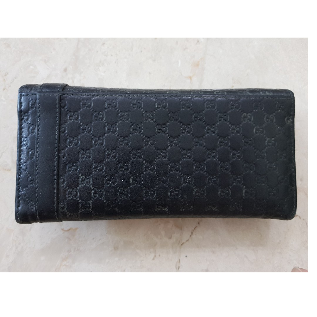 e6d0fc07172f Authentic Gucci Ladies Long Wallet Black, Luxury, Bags & Wallets, Wallets  on Carousell