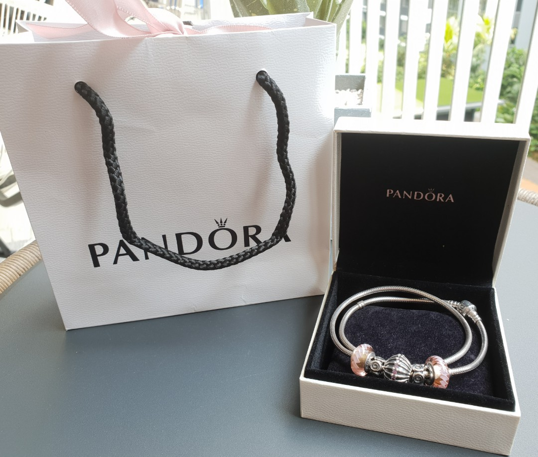 015b40ef7 Authentic Pandora Necklace with Charms, Women's Fashion, Jewellery ...