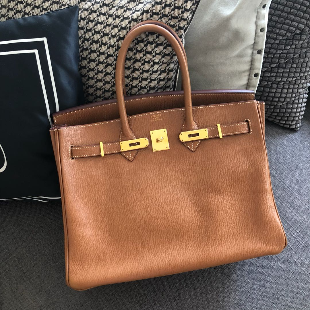Authentic Preloved Hermes Birkin 35 Gold Epsom Ghw D stamp, Luxury ... 7f05a5779a