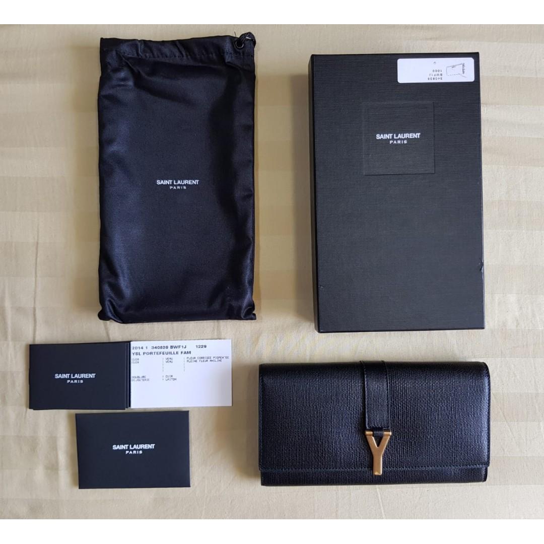 d01722ebc9f Authentic Saint Laurent YSL Classic Y Long Flap Wallet (Black), Women s  Fashion, Bags   Wallets, Wallets on Carousell
