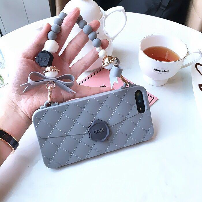 Beads Bag Phone Cover w/ Sling Strap