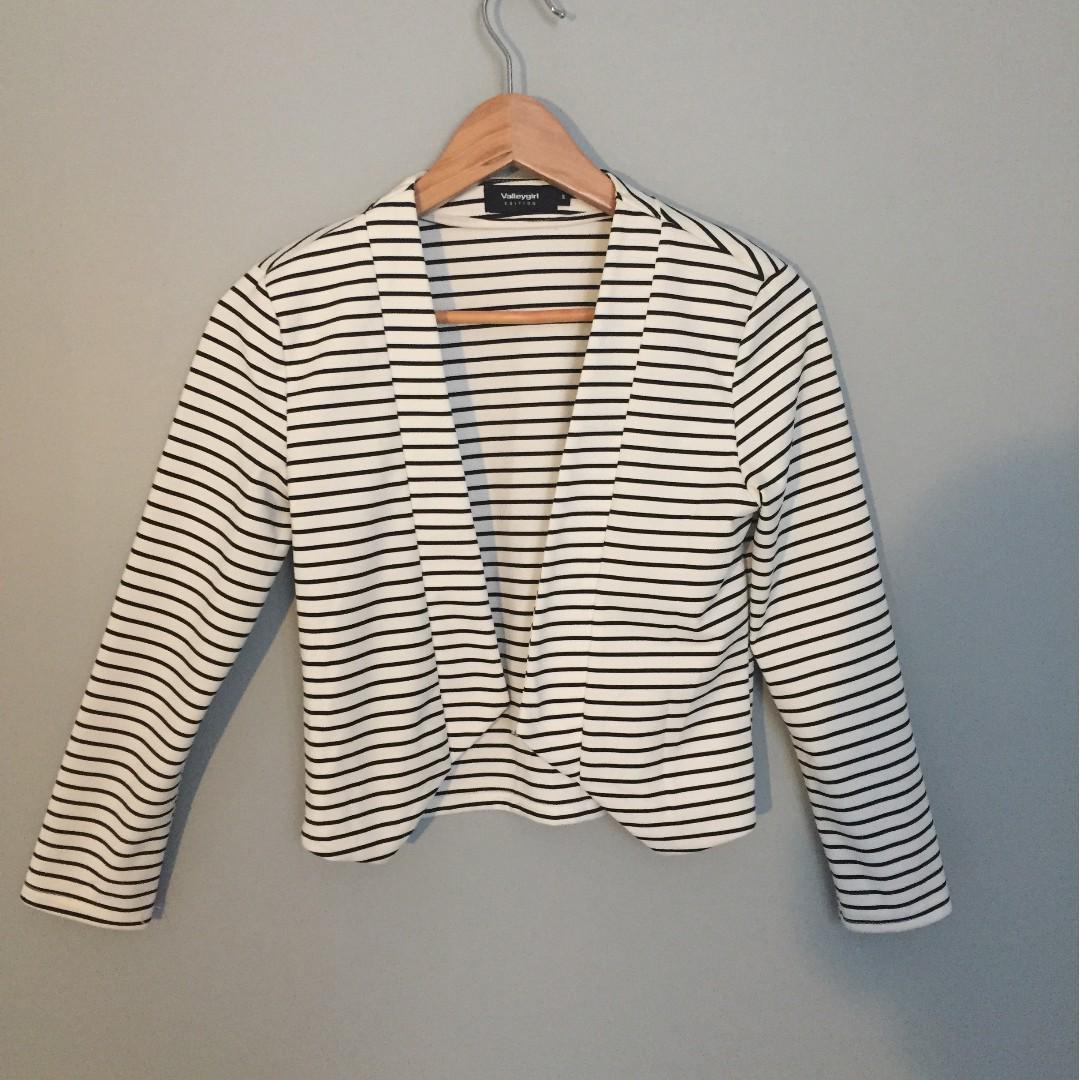 Black and White Striped Blazer Size Small from Australia