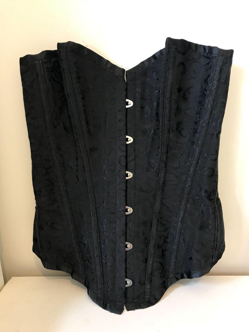 Black Laceup Corset