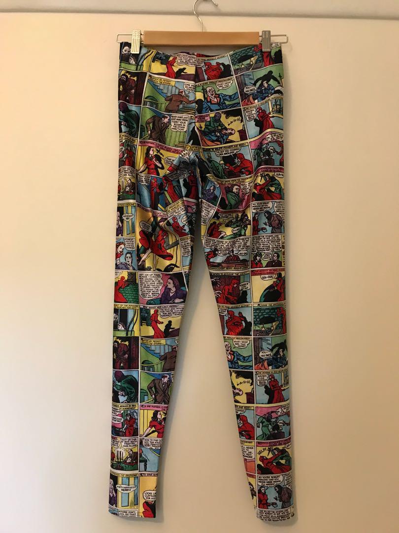 Black Milk comic leggings