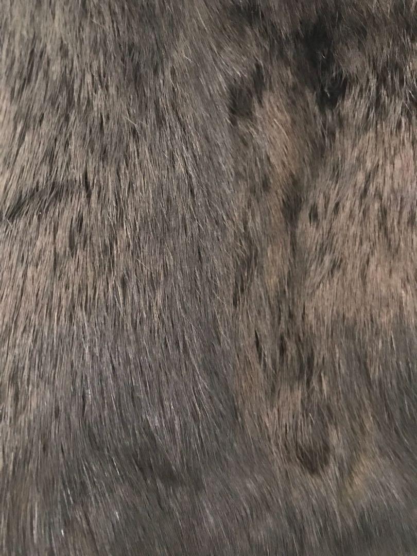 Black Rabbit Fur Coat