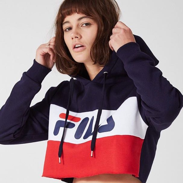 21350a5a76ec3c BNWT authentic fila tricolour cropped hoodie