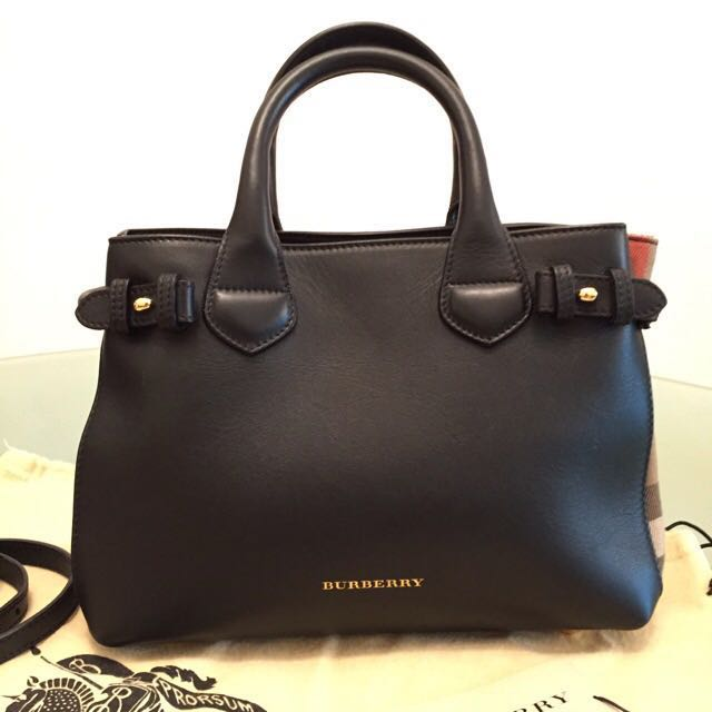 ffba3e7a979 Brand New Authentic Burberry Tote Bag - The Small Banner in Leather ...
