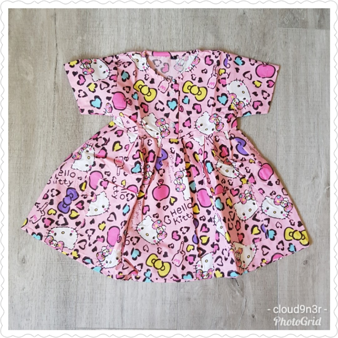 bdd341e70 *New Arrival* BN Handmade Premium Short Sleeve Dress with pockets – Pink  Leopard Hello Kitty, Babies & Kids, Girls' Apparel, 1 to 3 Years on  Carousell