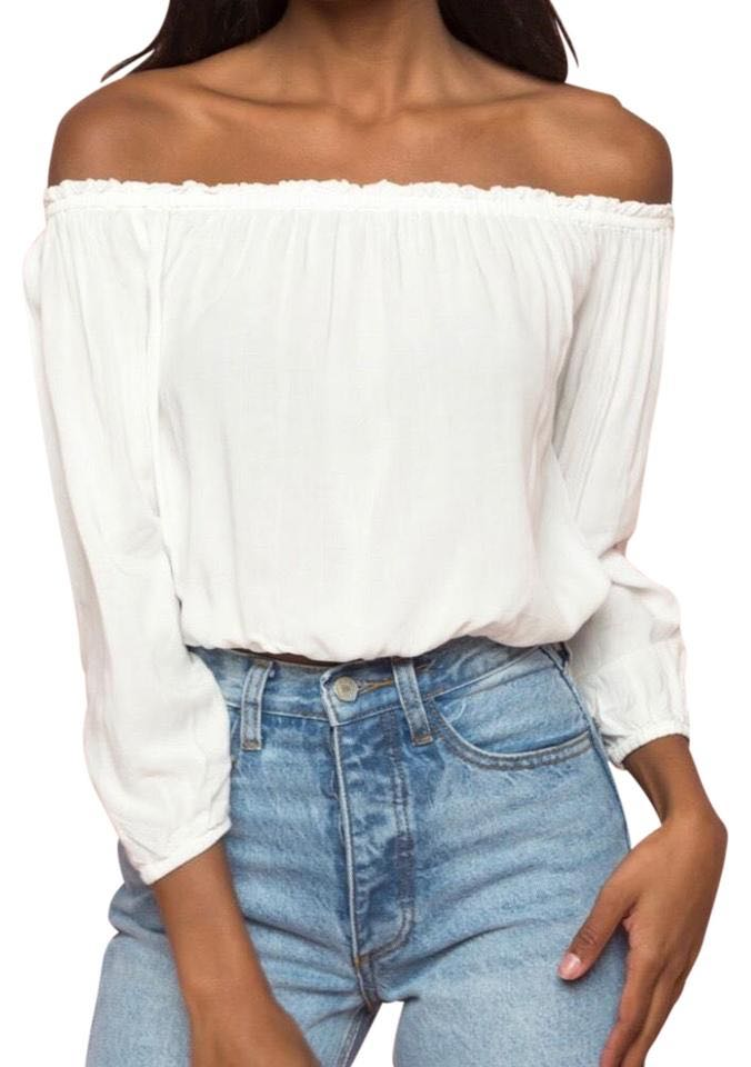 8bb591fad80a6 brandy melville white off shoulder top 🍒
