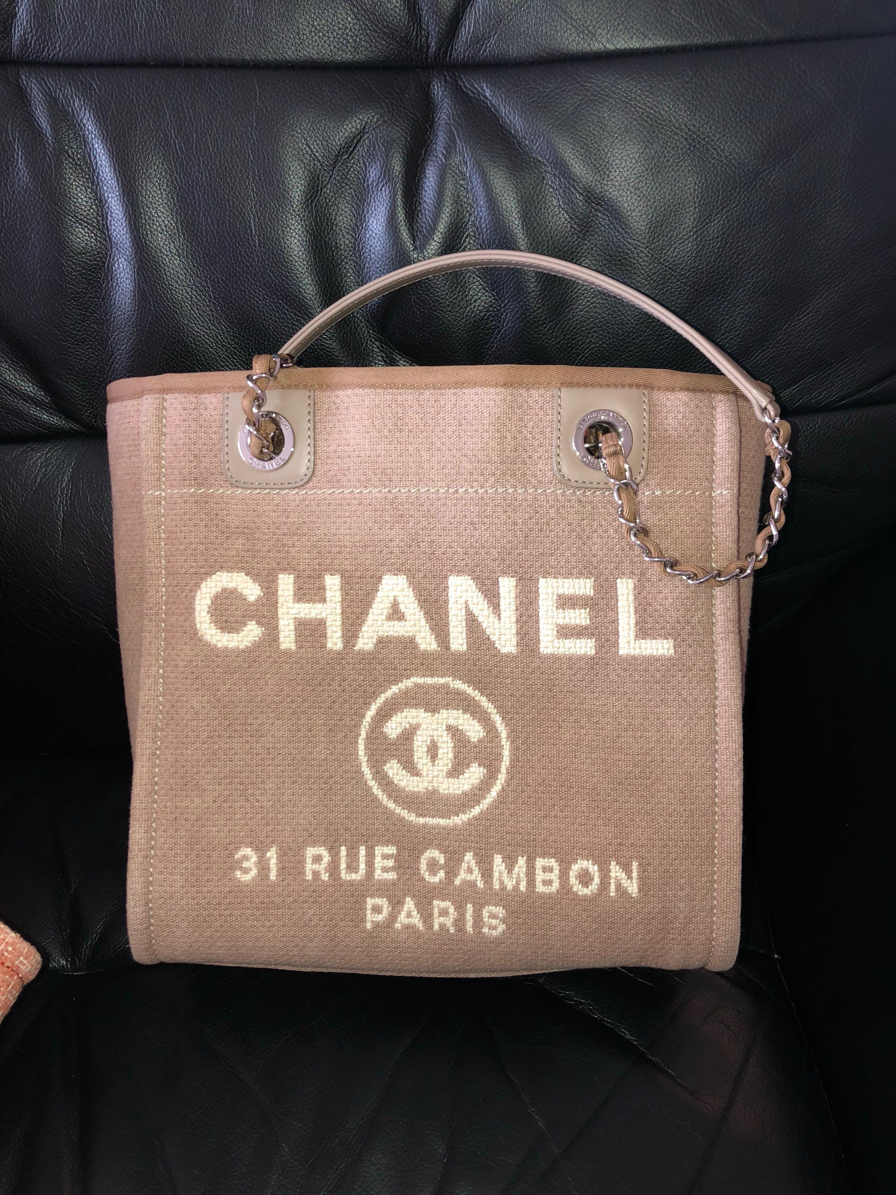 98a4331ed Chanel Deauville Tote Small, Luxury, Bags & Wallets, Handbags on Carousell