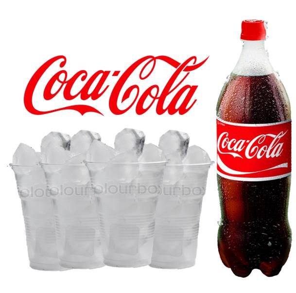 Coca Cola 1 5l 4 Cups With Ice Food Drinks Beverages On Carousell