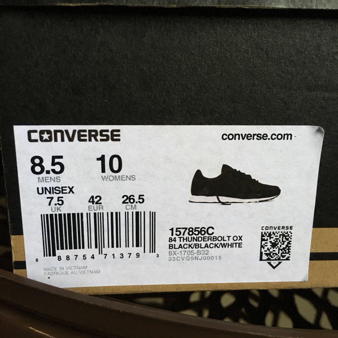 Converse 84 Thunderbolt Ox Black/White (Original 100%)