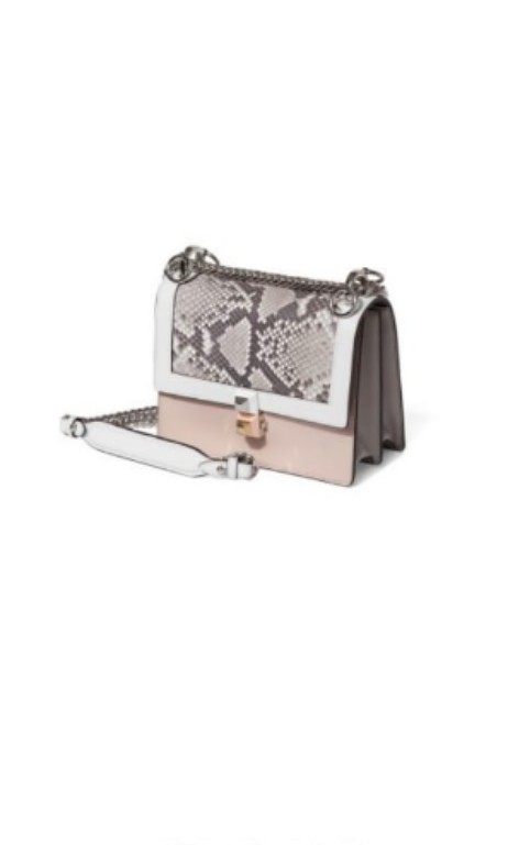 fe1d9c0bab47 Fendi small Kan I in soft pink with python leather embossing double ...