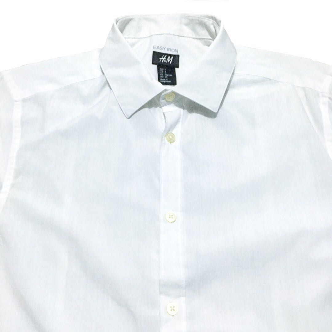 7f5f32340 H&M White Long Sleeve Polo (Small), Men's Fashion, Clothes on Carousell