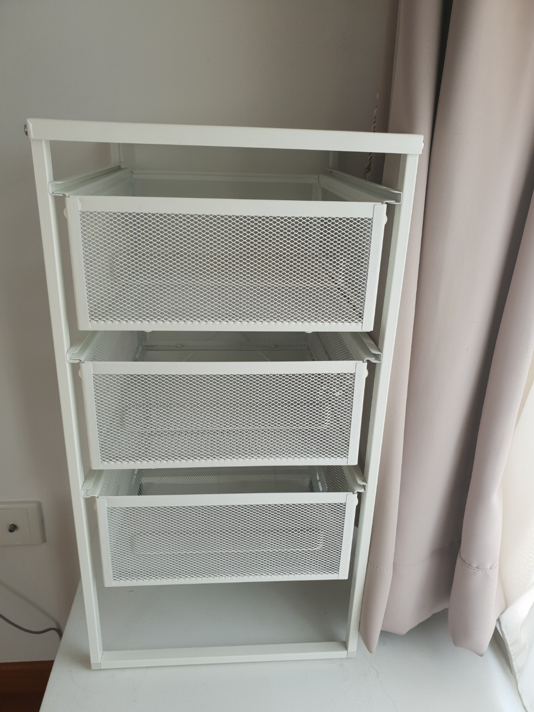 Ikea Lennart White Drawer Unit Furniture Shelves