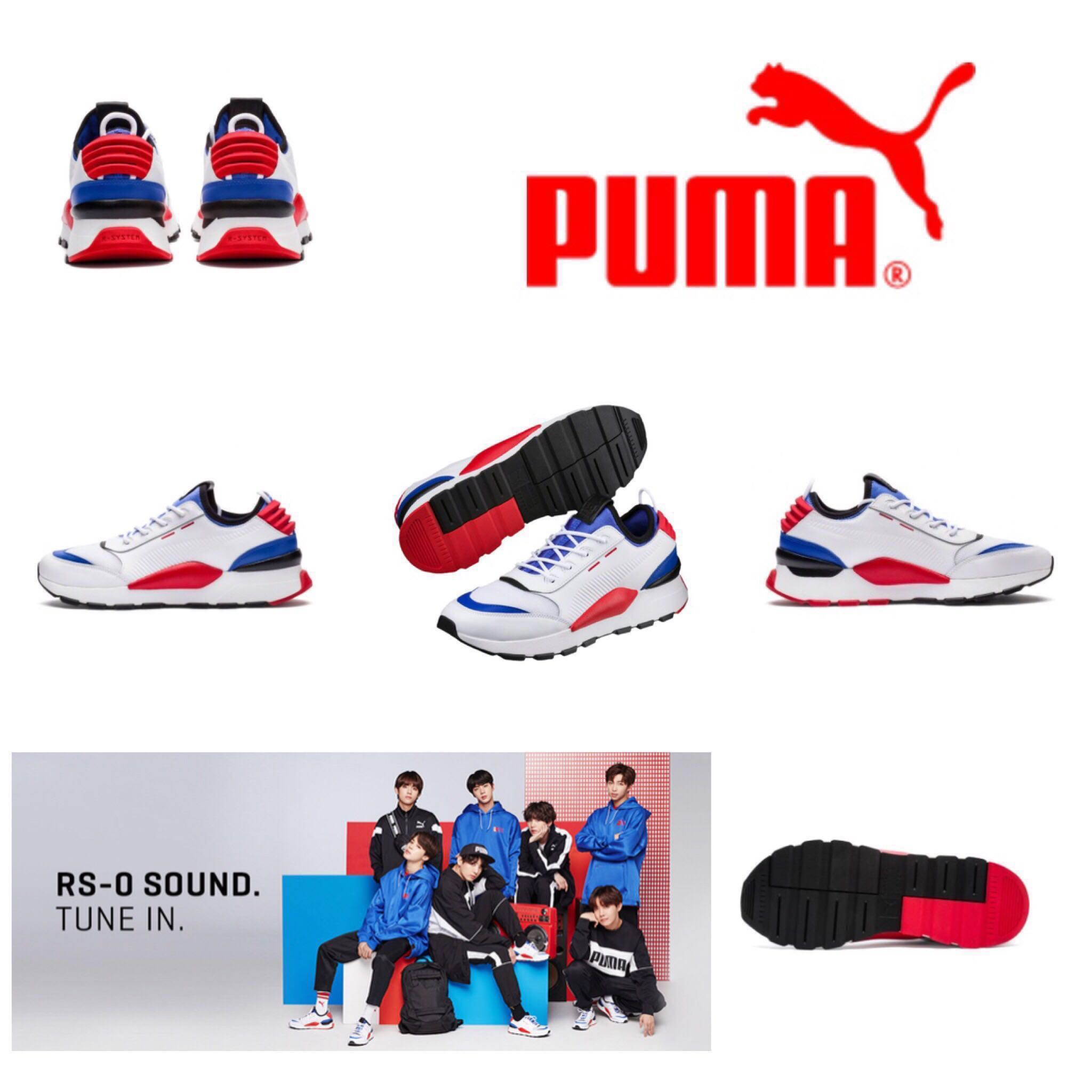 new product 26bbb c284b  INC EMS  BTS X PUMA RS-0 SOUND SHOES, Entertainment, K-Wave on Carousell