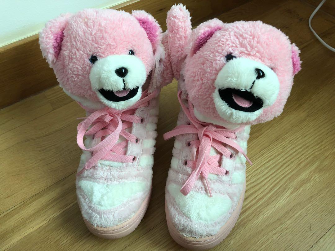 d34192e72d48 Jeremy Scott X Adidas Originals Pink Bear High Tops