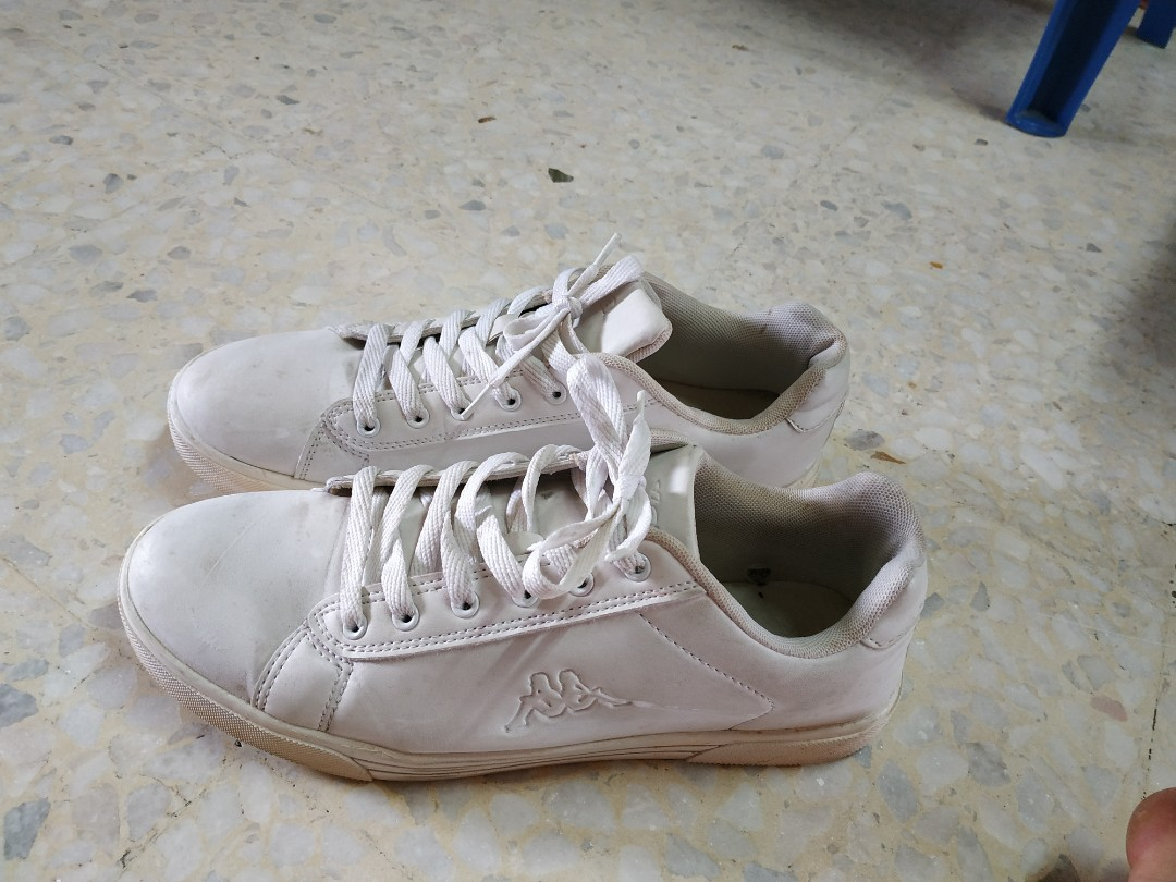 39317c23f8 Kappa white canvas shoes, Men's Fashion, Footwear, Sneakers on Carousell