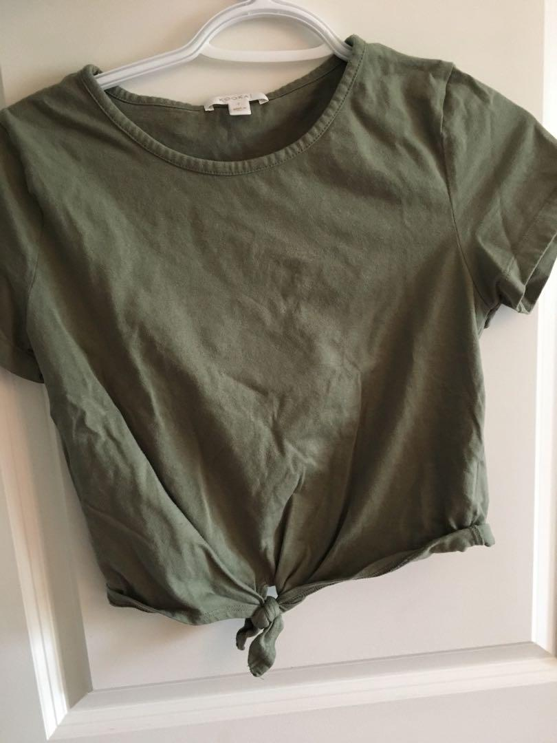 Kookai tee with knot on bottom (only in Australia)